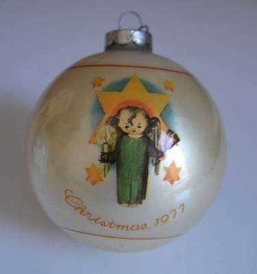 Vintage SCHMID 1977 Limited Edition HERALD ANGEL Gold Glass Ornament
