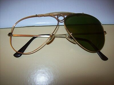 Vintage Ray Ban pilot gold frame  sunglasses ' 80s   made in USA