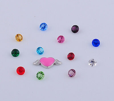 13pcs mix  F1loating Charms for Glass Living Memory Locket Mix H2104