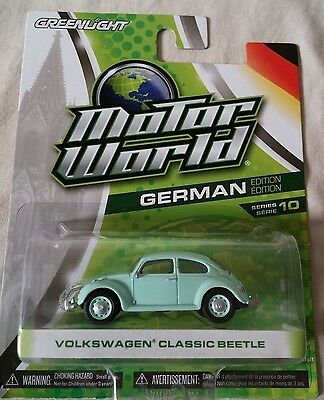 VOLKSWAGEN CLASSIC BEETLE 1:64 SCALE DIECAST BY MOTOR WORLD ( GERMAN )