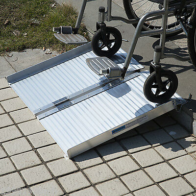 2' Aluminum Wheelchair Ramp Loading Ramp Scooter Mobility Handicap Ramp Portable