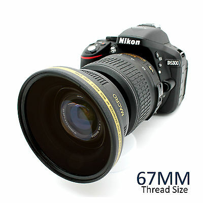 67MM HD Wide Angle Lens for Canon Rebel DSLR T3i T3 T4i T5i T5 18-135mm 17-85mm