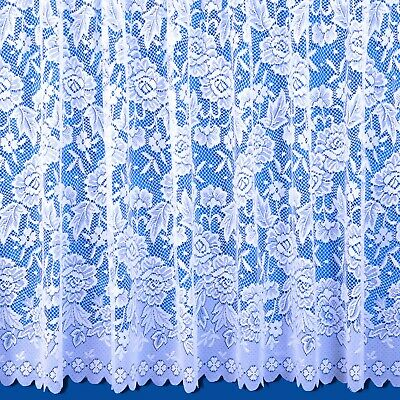 Balmoral Scalloped Net Curtain - In White Or Cream - Sold By The Metre