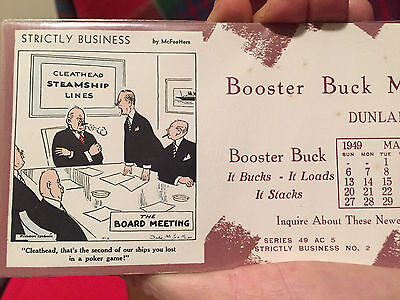 Blotter McFeatters Strictly Business Series 49 AC 5 - Booster Buck Mfg - Iowa