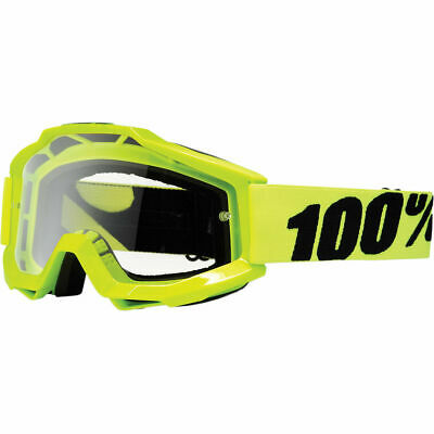 Gafas Moto 100% Accuri Goggles Fluo Yellow With Clear Lens