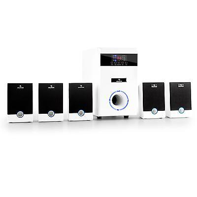 Equipo Audio Auna Altavoces Home Cinema 5.1 Activo 95W Rms Mando Luz Led Blanco