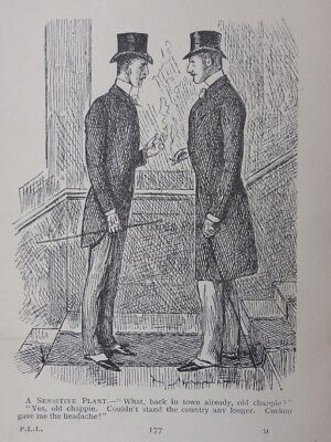 London & Cockney Life GENT BACK FROM THE COUNTRY / CUCKOO Antique Punch Cartoon