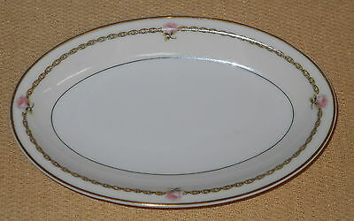"""Theodore Haviland Limoges France Small Tray Pink Rose & Garland - 8 7/8""""x5 5/8"""""""