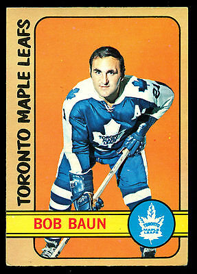 1972 73 Opc O Pee Chee 66 Bob Baun Ex-Nm Toronto Maple Leafs Hockey Card