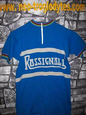 Vintage Cycling jersey shirt '70s wool embroidery maglia bici ciclismo