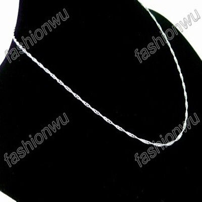 Lot 120 Pcs 1.5MM Silver Plate Copper Wave Thin Chain 1