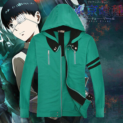 New Anime Tokyo Ghoul Hoodie Costume Sweater Jacket Coat S M L XL XXL
