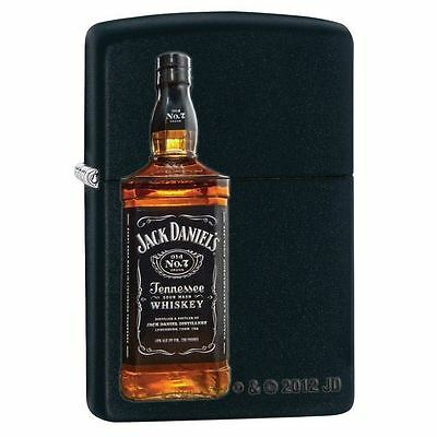 Official Jack Daniels Whiskey Bottle Black Matte Zippo Lighter - Gift Boxed