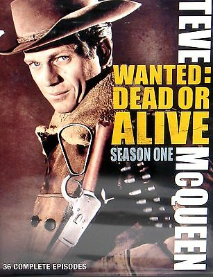 Wanted: Dead or Alive - Season One 4 DVD BOX NEW, FREE SHIP,STEVE MCQUEEN ,