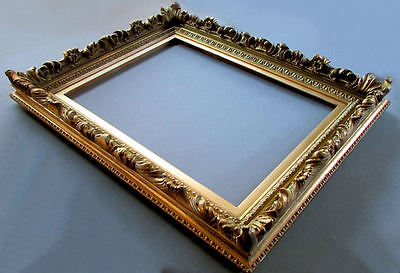 ANTIQUE 19th Century Gilt Wood & Gesso PAINTING FRAME