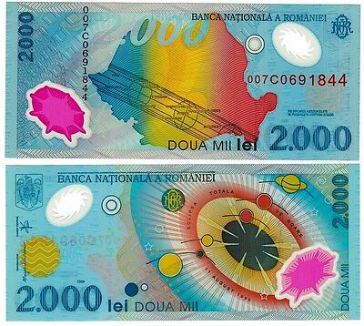 1999 Romania 2000 Lei Uncirculated Note