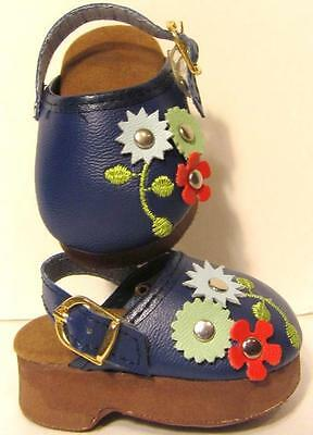 """BLUE FLOWER DAISY SHOES CLOGS  Doll Clothes for 18"""" American Girl, Journey"""