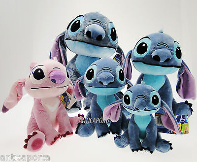 Peluche Stitch Disney Originale 4 misure disponibili Bellissimi Plush Angel Rosa