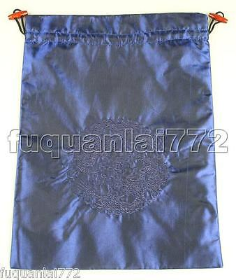 1PCS HANDMADE DARK BLUE SILK EMBROIDER CLOTHES SHOES BAGS