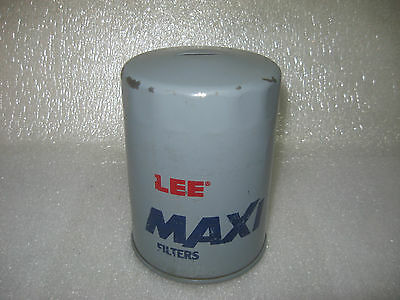Lee Maxi Oil Filter Advertising Metal Coin Bank Retro Garage