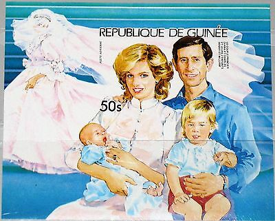 GUINEA 1985 Block 144 B S/S 938 Royals Charles & Diana with Child Harry William