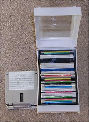 59 ~ 1.44 Floppy Disks ~ With Plastic Covered Case