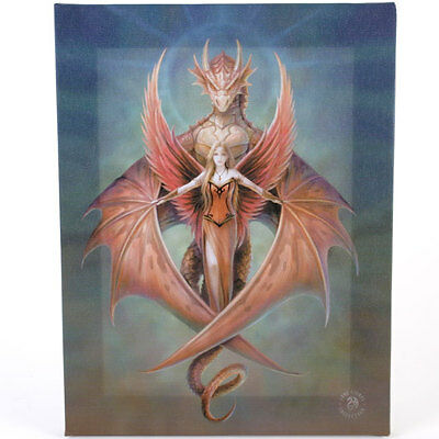 Fantasy Gothic Art Canvas Wall Plaque~Copper Wing~ Anne Stokes~G~uk seller