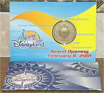 DISNEYLAND RESORT ~ GRAND OPENING 2/8/01 ~ COLLECTOR'S COIN ~ SEALED ~ NEW