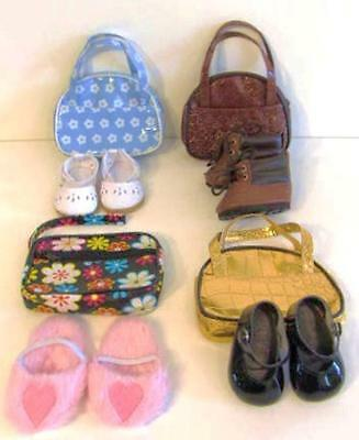 """LOT 8 Doll SHOES,BOOTS,BAGS Fits 18"""" American Girl Accessories ~White, Pink #9C"""