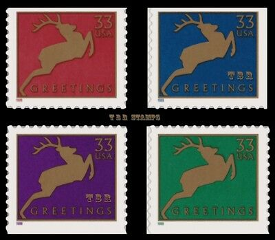 3364-67 3367 Holiday Reindeer 33c Singles From Vending BK276B 1999 MNH - Buy Now