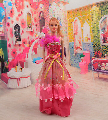 2014 Hot style Fashion Handmade princess  party Clothes dress For Noble Doll D10