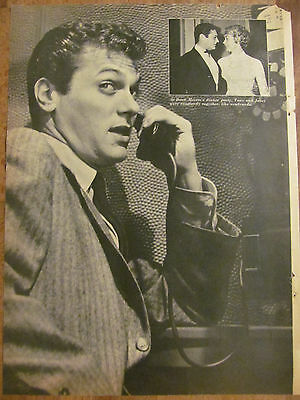 Tony Curtis, Full Page Vintage Clipping Pinup