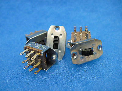 Lot of (5) NEW 3PDT Miniature Slide Switches: CW Industries - Made In USA