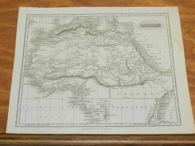 1817 Antique Map/NORTH & CENTRAL AFRICA