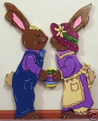 2pc Spring Bunny Rabbit Kiss Easter Yard Art Decoration