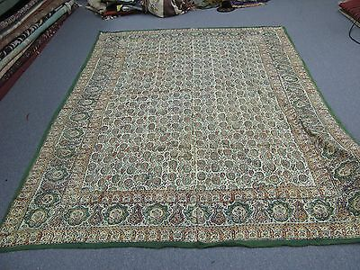 "Antique Persian Ghalamkar Linen Islamic Textile Hand-Printed Tablecloth 68""x96"""