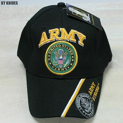 NEW Officially Licensed United States ARMY Veteran Hat, Black CAP-601M zix