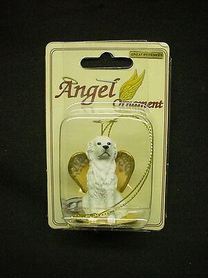GREAT PYRENEES white DOG ANGEL Ornament Figurine NEW Collectible Christmas puppy