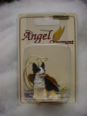 CARDIGAN WELSH CORGI dog ANGEL Ornament HAND PAINTED Figurine Christmas puppy