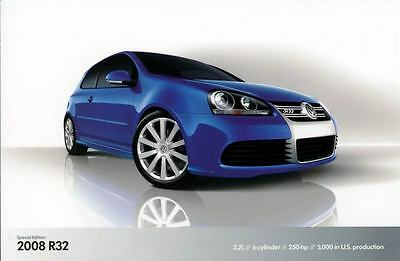 2008 Volkswagen R32 ORIGINAL Factory Postcard my1342