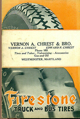 FIRESTONE Truck and Bus Tires illustrated 24-page booklet (1925)