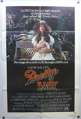 Brooke Shields Pretty Baby ORIGINAL 1970s 1 Sheet Movie Poster Louis Malle