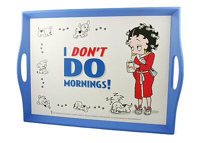 Betty Boop Lap Tray - I Don't Do Mornings design