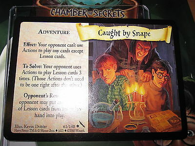 Harry Potter Tcg Card Chamber Of Secrets Caught By Snape 61/140 Unco Mint En