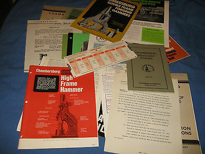 Sales Literature from Chambersburg Engineering 1950s-1970s - ORIGINAL