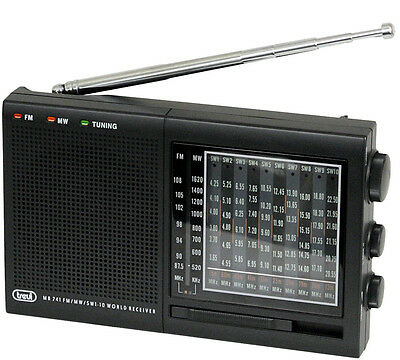Trevi  Portable Radio World Receiver  12 Band FM/MW/SW 1-10 - FREE DELIVERY