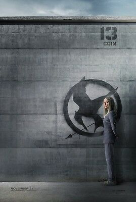 Hunger Games 3 Mockingjay original DS movie poster - D/S 27x40 - Coin