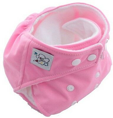Free Shipping 1PCS New Baby Reusable Washable Nappies Cloth Diaper Nappy Pink