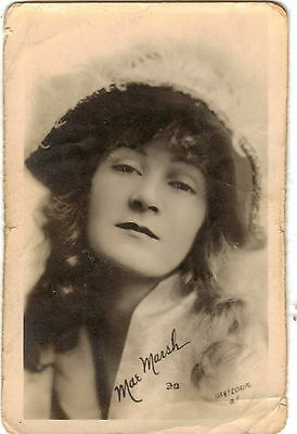 Antique mini portrait fan photograph of Mae Marsh 145