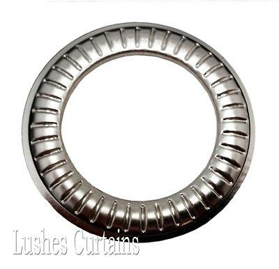 """Large Curtain Drapery Nickel #12 Metal Grommets 1-9/16"""" Pack w/Washer Eyelets"""